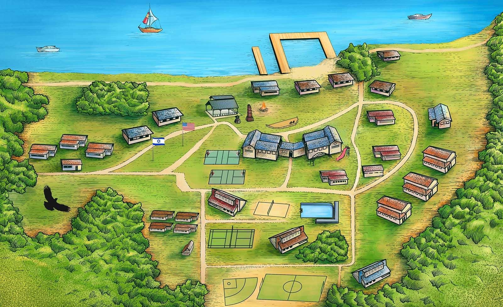 Interactive Camp Zeke map