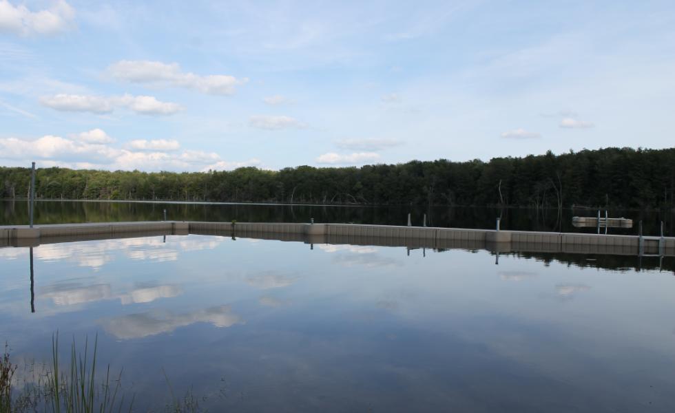 Private lake swimming docks