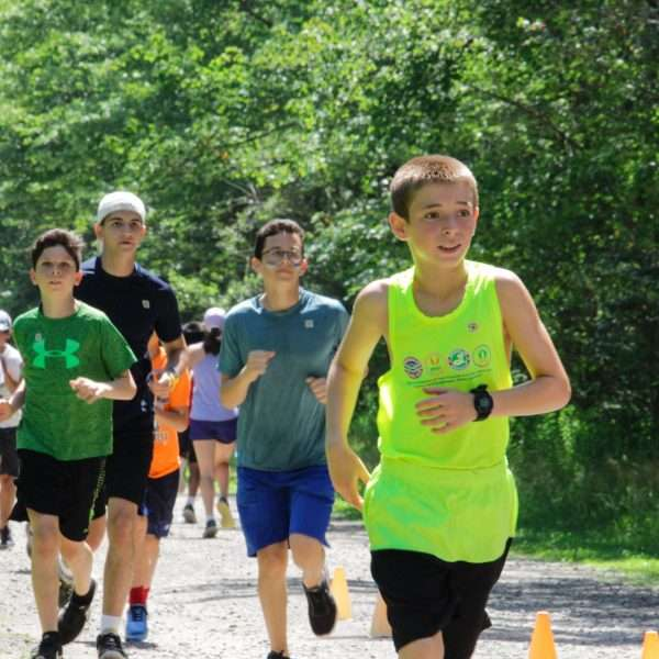 Group of campers taking part in the Zeke 5K