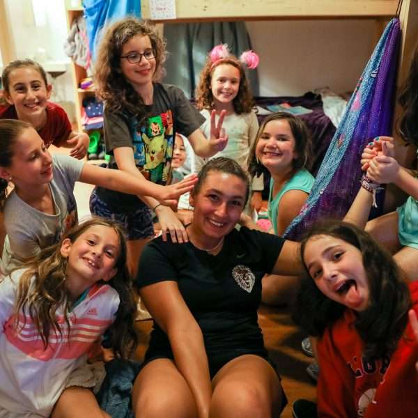 Emek Girls in their dorms for a movie night