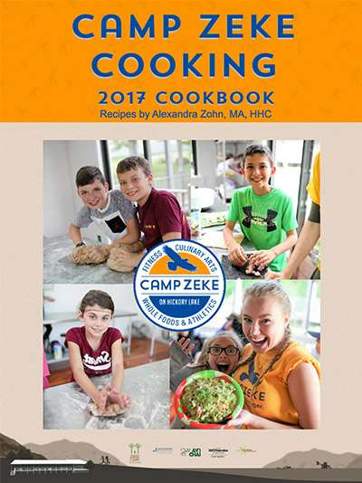 Cover of the Camp Zeke Cookbook 2017